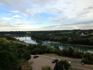 Beautiful shot from downtown Edmonton.