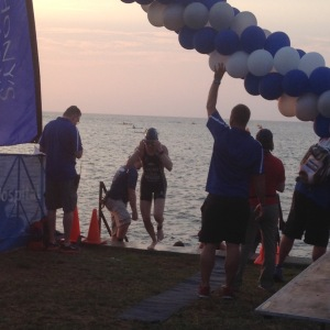 First out of the water, thanks Blueseventy!