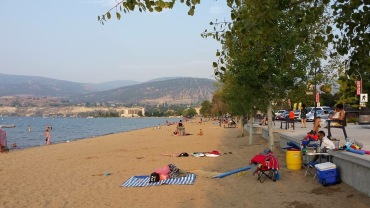 Beautiful beach at Penticton