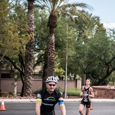 Photo thanks to Brian Pomeroy! Still in the lead with the lead biker.