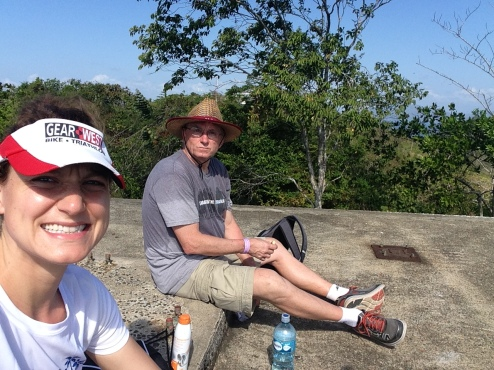 Greg and I resting and enjoying the view