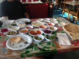 10$ buys you unlimited 20 plates of deliciousness at Old Man and the Sea in Tel Aviv
