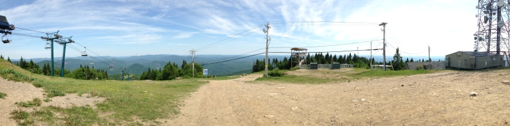 View from the top of the ski mountain!