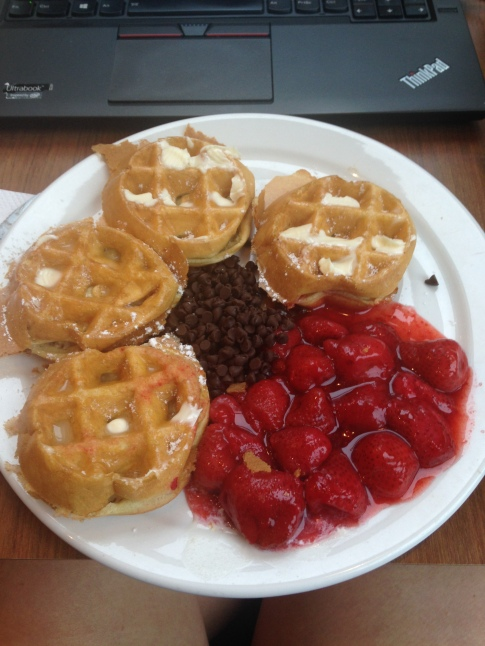 I did make waffles in the morning :-)